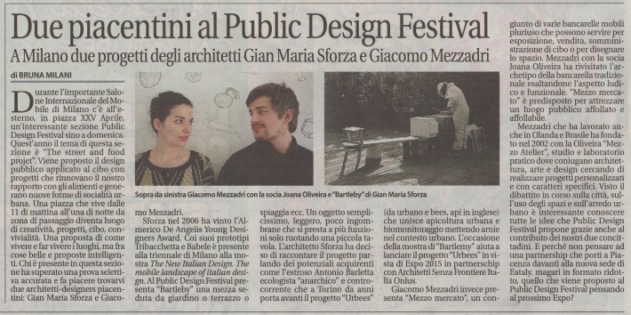 article in Liberta about Mezzo Mercato